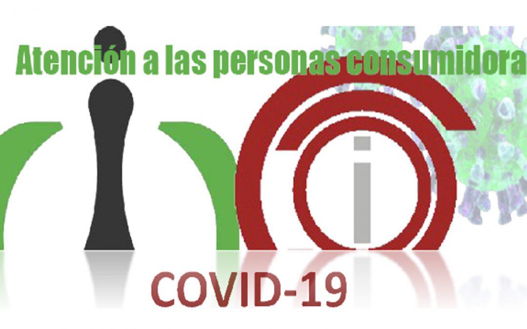 ATENCIÓN A LAS PERSONAS CONSUMIDORAS, COVID-19